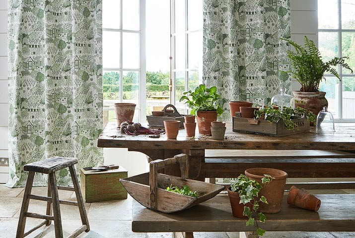 1-fabric-dining-room-botanical-greenery-allotment-potting-room-at-style-library